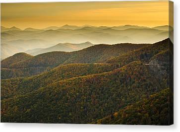 Blue Ridge Autumn Canvas Print by Serge Skiba