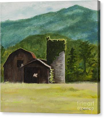 Blue Ridge Barn Canvas Print by Carla Dabney