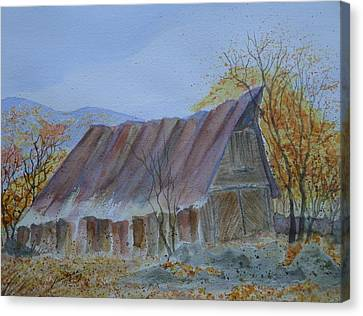 Blue Ridge Barn Canvas Print