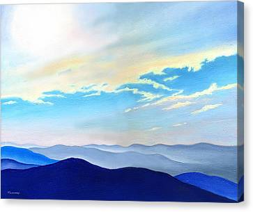Blue Ridge Blue Above Canvas Print by Catherine Twomey