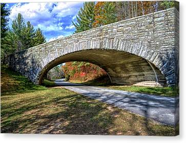 Blue Ridge Bridge Canvas Print by Bob Jackson