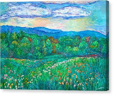 Blue Ridge Meadow Canvas Print by Kendall Kessler