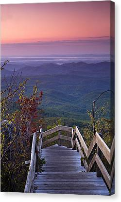 Blue Ridge Morning Canvas Print by Andrew Soundarajan