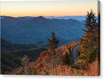 Blue Ridge Morning Canvas Print by Clay Townsend