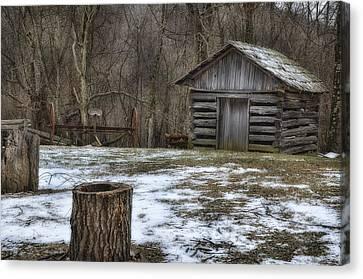 Blue Ridge Mountain Farm Canvas Print by Steve Hurt