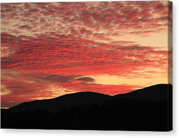 Blue Ridge Mountain Sunset-alabama Canvas Print by Mountains to the Sea Photo