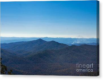 Canvas Print featuring the painting Blue Ridge Mountains by Debra Crank