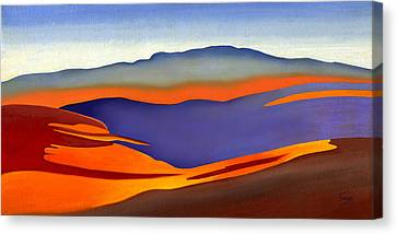 Blue Ridge Mountains East Fall Art Abstract Canvas Print