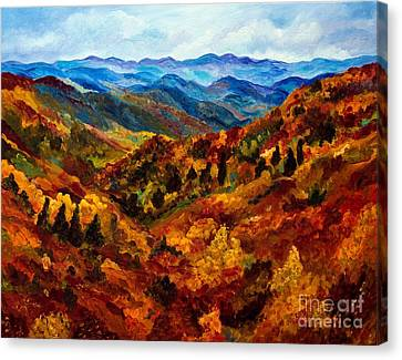 Blue Ridge Mountains In Fall II Canvas Print