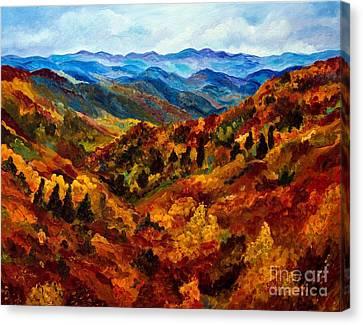 Blue Ridge Mountains In Fall II Canvas Print by Julie Brugh Riffey