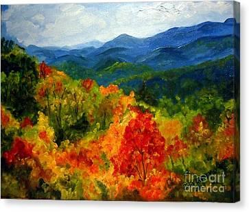 Blue Ridge Mountains In Fall Canvas Print by Julie Brugh Riffey