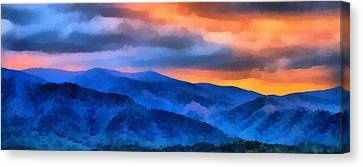 Blue Ridge Mountains Sunrise Canvas Print