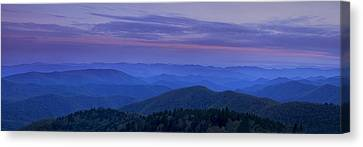 Blue Ridge Panorama At Dusk Canvas Print