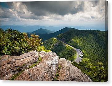 Blue Ridge Parkway - Asheville Nc Craggy Gardens Overlook Canvas Print by Dave Allen
