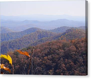 Blue Ridge Parkway Horizon Canvas Print by Angelia Hodges Clay