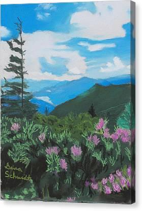 Blue Ridge Parkway In June Canvas Print