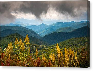 Blue Ridge Parkway Nc Photography North Carolina Scenic Landscape Canvas Print by Dave Allen