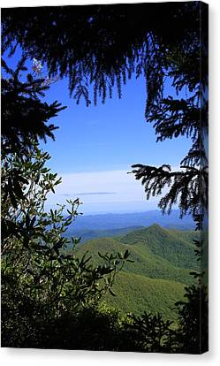Canvas Print featuring the photograph Blue Ridge Parkway Norh Carolina by Mountains to the Sea Photo