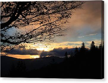 Canvas Print featuring the photograph Blue Ridge Parkway Sunrise by Mountains to the Sea Photo