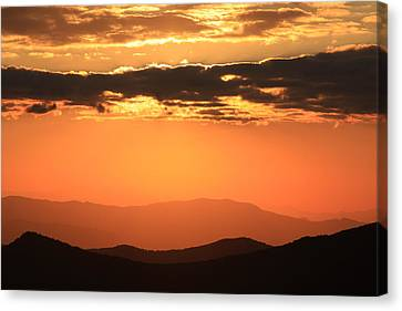 Canvas Print featuring the photograph Blue Ridge Parkway Sunset-north Carolina by Mountains to the Sea Photo