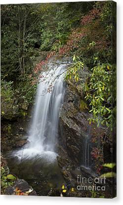 Smokey Mountains Canvas Print - Blue Ridge Parkway Waterfall Western North Carolina by Reid Callaway