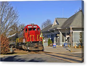 Blue Ridge Scenic Railway Canvas Print by Kenny Francis