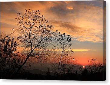 Canvas Print featuring the photograph Blue Ridge Sunrise by Mountains to the Sea Photo