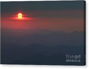 Blue Ridge Sunset 5 Canvas Print