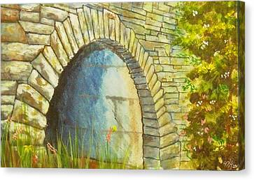 Blue Ridge Tunnel Canvas Print