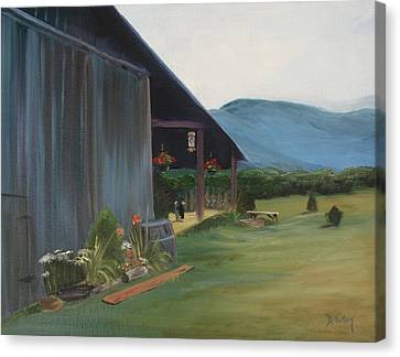 Blue Ridge Vineyard Canvas Print by Donna Tuten