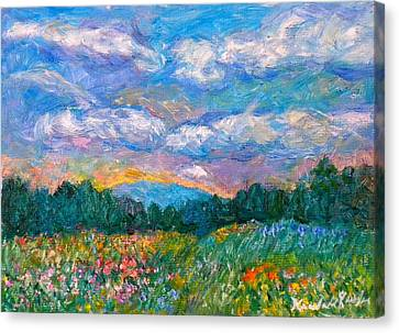 Blue Ridge Wildflowers Canvas Print by Kendall Kessler