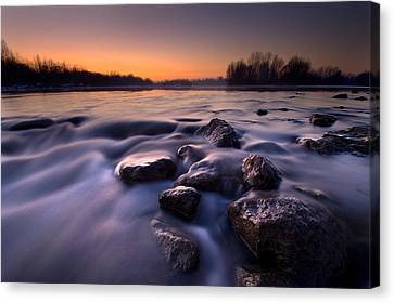 Blue River Canvas Print by Davorin Mance