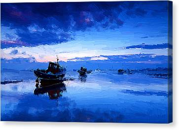 Blue Canvas Print by VRL Art