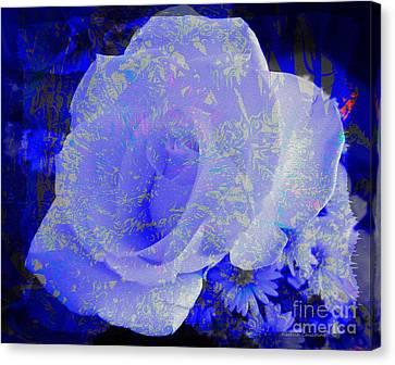 Blue Rose Canvas Print by Kathie Chicoine
