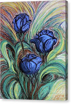 Blue Roses Canvas Print by Jasna Dragun