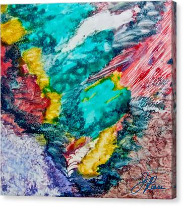 Canvas Print featuring the painting Blue Rush by Joan Reese