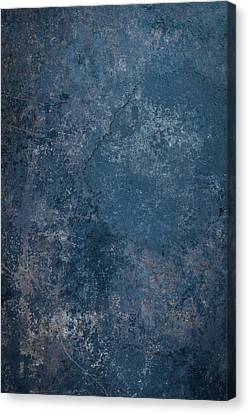 Blue Rustic Metal Background Canvas Print by Brandon Bourdages