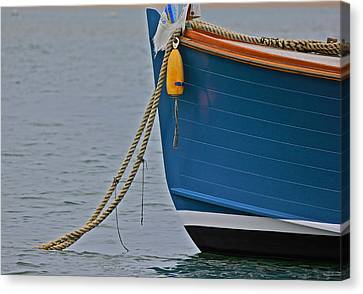 Canvas Print featuring the photograph Blue Sailboat by Amazing Jules