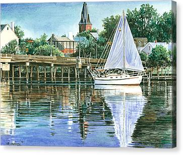 Blue Sails Copy Canvas Print by Mark Mahoney