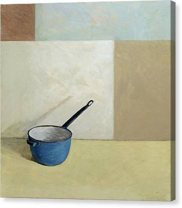 Cabin Wall Canvas Print - Blue Saucepan by William Packer