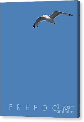 Canvas Print featuring the drawing Blue Series 001 Freedom by Rob Snow