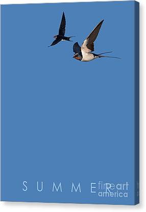 Canvas Print featuring the mixed media Blue Series 002 Summer by Rob Snow