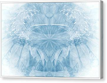 Canvas Print featuring the photograph Blue Serinity by Geraldine DeBoer