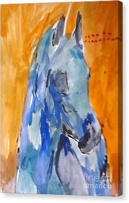 Blue Shagya Arabian Canvas Print by Patries Van Dokkum