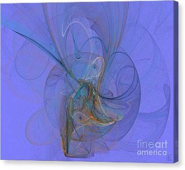 Blue Shell 1 Canvas Print by Jeanne Liander