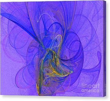 Blue Shell 2 Canvas Print by Jeanne Liander