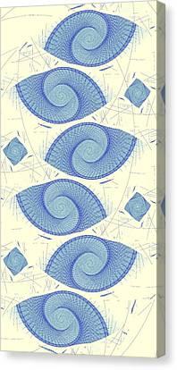 Blue Shells Canvas Print by Anastasiya Malakhova