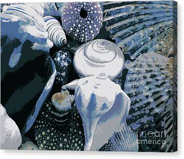 Blue Shells Canvas Print