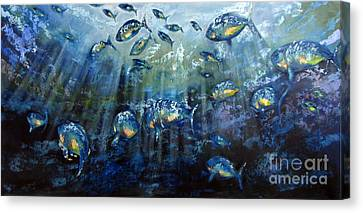 Blue Shoal Canvas Print by Dave Hancock