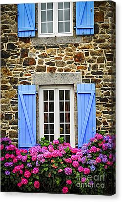 Blue Shutters Canvas Print by Elena Elisseeva